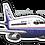 Thumbnail: Adesivo Silhueta Boeing 737-200