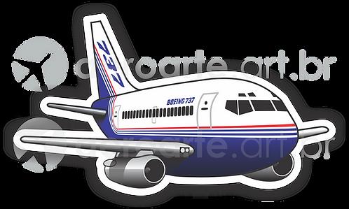 Adesivo Silhueta Boeing 737-200