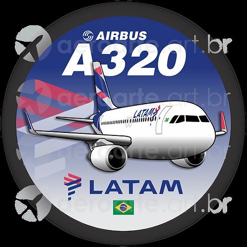 Adesivo Bolacha Airbus A320 CFM LATAM