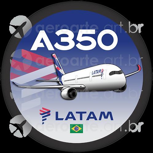 Adesivo Bolacha Airbus A350 LATAM