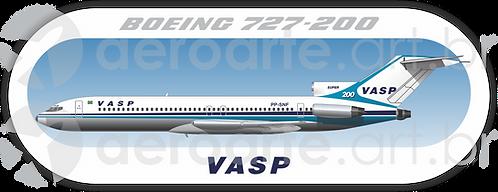 Adesivo Perfil Boeing 727-200 VASP