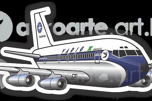 Adesivo Silhueta Boeing 707 VARIG