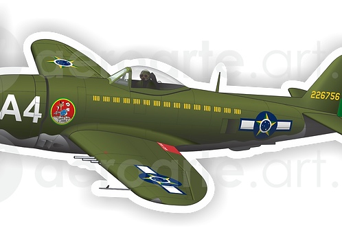 Adesivo Silhueta P-47D FAB
