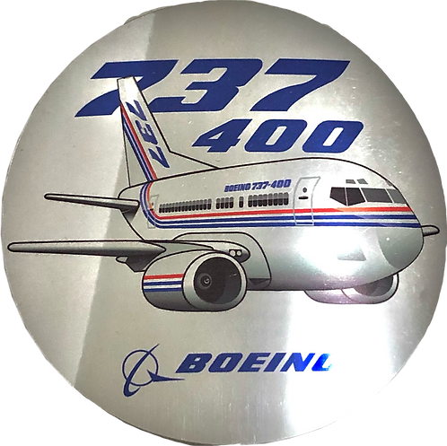 Adesivo Cromado Bolacha Boeing 737-400