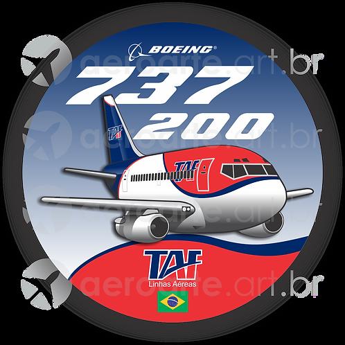 Adesivo Bolacha Boeing 737-200 TAF