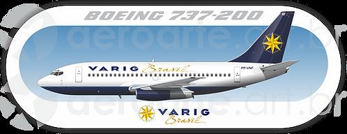 Adesivo Perfil Boeing 737-200 VARIG 2ª Pintura