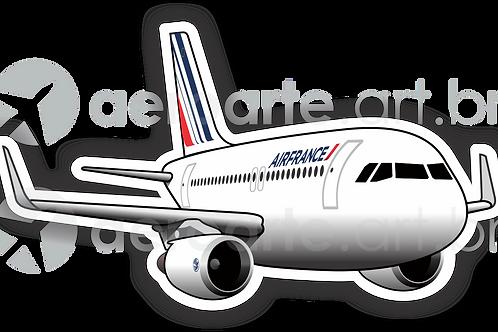 Adesivo Silhueta Airbus A320 Air France