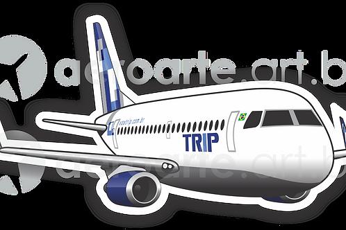 Adesivo Silhueta Embraer 190 TRIP
