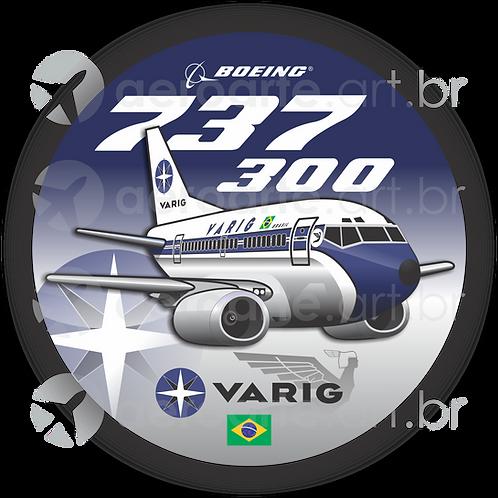 Adesivo Bolacha Boeing 737-300 VARIG 1ª Pintura