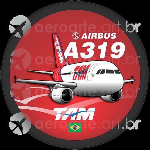 Adesivo Bolacha Airbus A319 CFM TAM