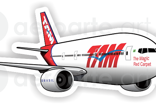 Adesivo Silhueta Boeing 777-300ER TAM