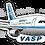 Thumbnail: Adesivo Silhueta Airbus A300 VASP 1ªPintura