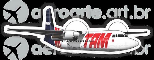 Adesivo Silhueta Fokker 50 TAM