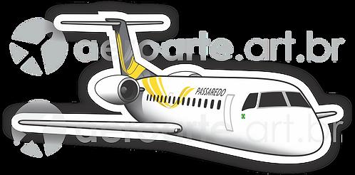 Adesivo Silhueta Embraer ERJ-145 Passaredo