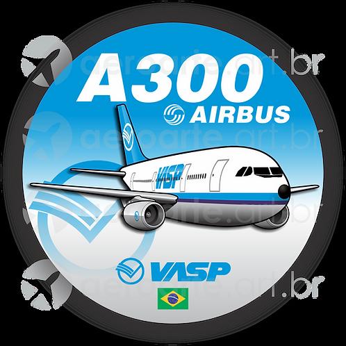 Adesivo Bolacha Airbus A300 VASP