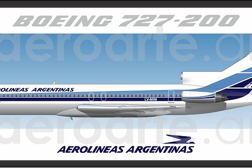 Adesivo Perfil Boeing 727-200 Aerolineas Argentinas