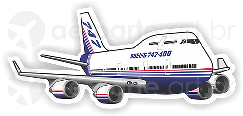 Adesivo Silhueta Boeing 747-400