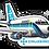 Thumbnail: Adesivo Silhueta Boeing 737-200 Cruzeiro