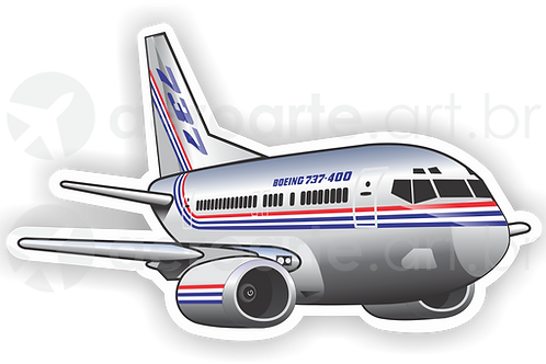 Adesivo Silhueta Boeing 737-400