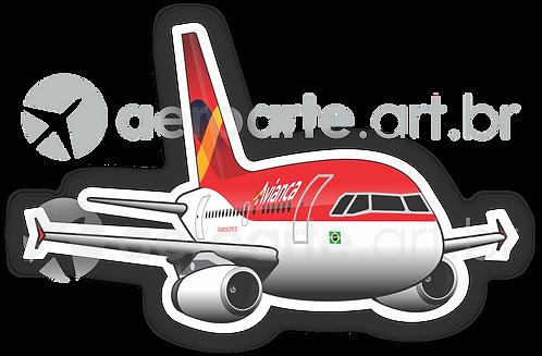 Adesivo Silhueta Airbus A318 Avianca Brasil