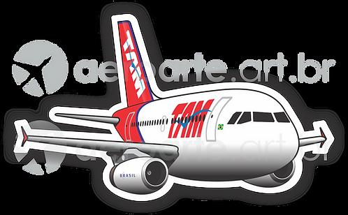 Adesivo Silhueta Airbus A319 IAE TAM