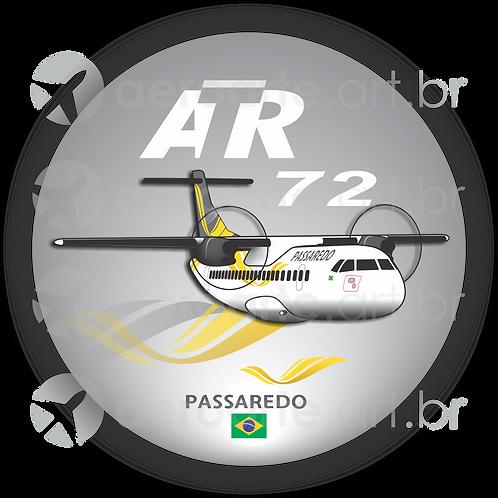 Adesivo Bolacha ATR 72 Passaredo