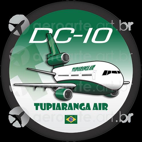 Adesivo Bolacha Douglas DC-10 TUPIARANGA AIR