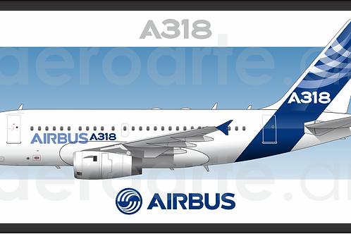 Adesivo Perfil Airbus A318 - Pintura 2