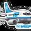 Thumbnail: Adesivo Silhueta Boeing 737-300 VASP