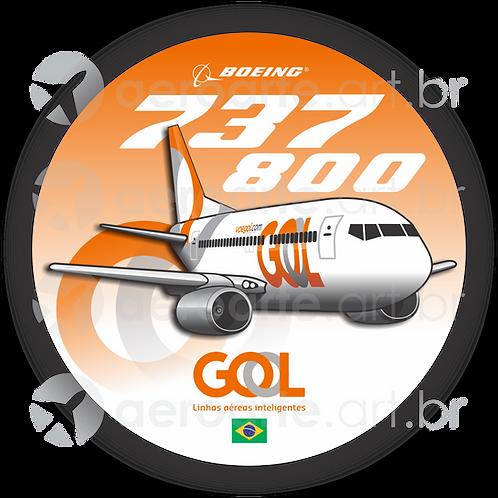Adesivo Bolacha Boeing 737-800 GOL 3ª Pintura