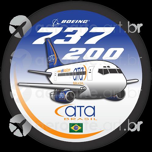 Adesivo Bolacha Boeing 737-200 ATA Brasil