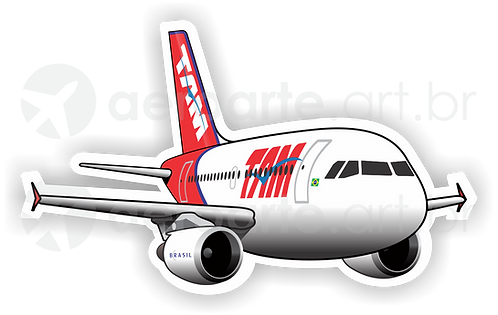 Adesivo Silhueta Airbus A319 CFM TAM