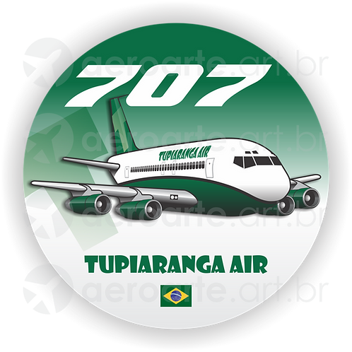 Adesivo Bolacha Boeing 707 TUPIARANGA AIR