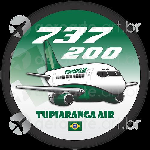 Adesivo Bolacha Boeing 737-200 TUPIARANGA AIR
