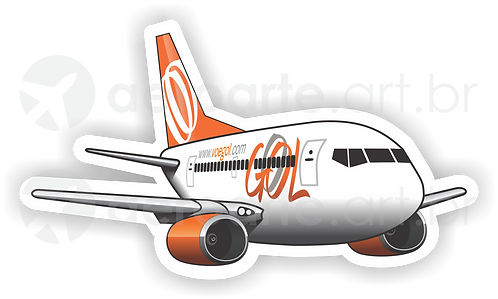 Adesivo Silhueta Boeing 737-700 GOL 2ª Pintura