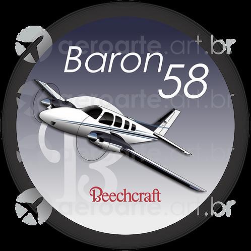 Adesivo Bolacha Beechcraft Baron 58