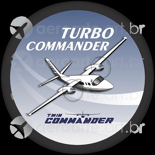 Adesivo Bolacha Turbo Commander