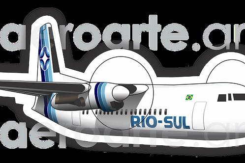 Adesivo Silhueta Fokker 50 Rio-Sul
