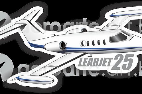 Adesivo Silhueta Learjet 25
