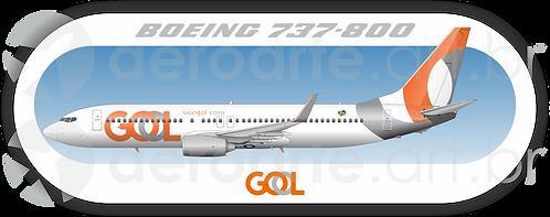 Adesivo Perfil Boeing 737-800 GOL 3ª Pintura