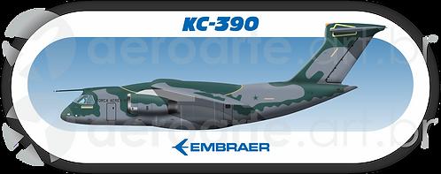 Adesivo Perfil KC-390 FAB