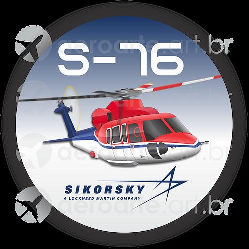 Adesivo Bolacha Sikorsky S-76