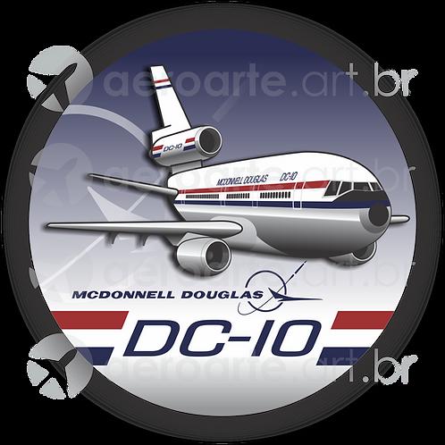Adesivo Bolacha Douglas DC-10