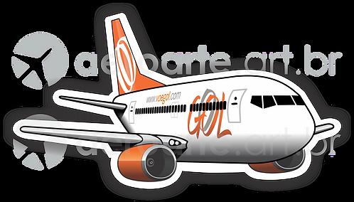Adesivo Silhueta Boeing 737-800 GOL 2ª Pintura