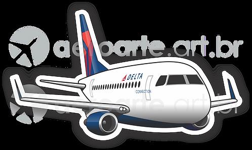 Adesivo Silhueta Embraer 175 Delta Connection