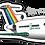 Thumbnail: Adesivo Silhueta Boeing 727 Transbrasil Verde
