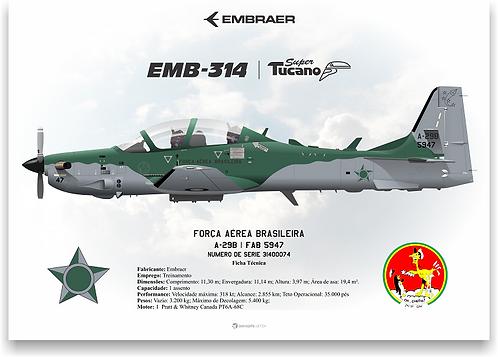 Pôster Perfil A-29 FAB