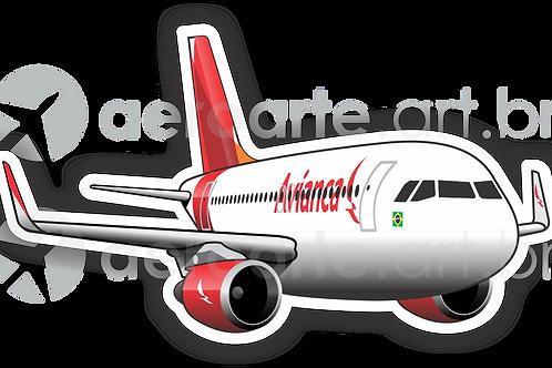 Adesivo Silhueta Airbus A320 CFM Avianca Brasil new colors
