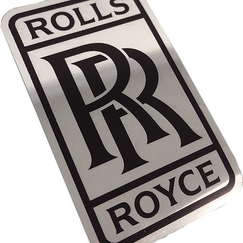 Adesivo Rolls Royce Cromado