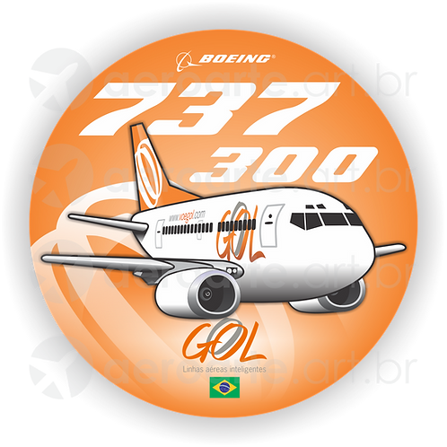 Adesivo Bolacha Boeing 737-300 GOL